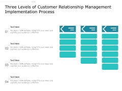 Three Levels Of Customer Relationship Management Implementation Process Ppt PowerPoint Presentation Gallery Guide PDF