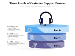 Three Levels Of Customer Support Process Ppt PowerPoint Presentation Infographics Guide PDF