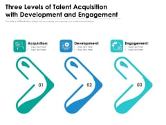 Three Levels Of Talent Acquisition With Development And Engagement Ppt Outline Deck PDF