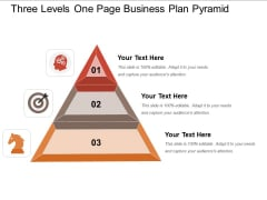 Three Levels One Page Business Plan Pyramid Ppt PowerPoint Presentation Outline Grid PDF