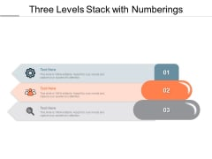 Three Levels Stack With Numberings Ppt PowerPoint Presentation File Brochure PDF