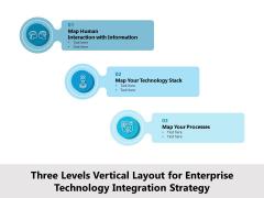 Three Levels Vertical Layout For Enterprise Technology Integration Strategy Ppt PowerPoint Presentation Icon Portfolio PDF