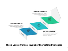 Three Levels Vertical Layout Of Marketing Strategies Ppt PowerPoint Presentation Infographic Template Picture PDF