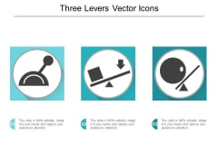 Three Levers Vector Icons Ppt PowerPoint Presentation Slides Summary