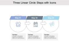 Three Linear Circle Steps With Icons Ppt PowerPoint Presentation Professional Brochure