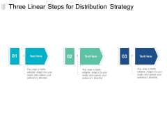 Three Linear Steps For Distribution Strategy Ppt PowerPoint Presentation Ideas
