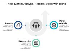 three market analysis process steps with icons ppt powerpoint presentation portfolio brochure