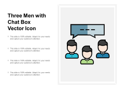 Three Men With Chat Box Vector Icon Ppt PowerPoint Presentation Summary