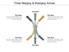 Three Merging And Diverging Arrows Ppt Powerpoint Presentation File Smartart