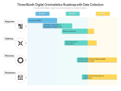 Three Month Digital Criminalistics Roadmap With Data Collection Structure