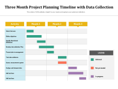 Three Month Project Planning Timeline With Data Collection Ppt PowerPoint Presentation Inspiration Pictures PDF
