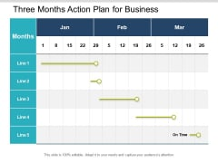 Three Months Action Plan For Business Ppt PowerPoint Presentation Inspiration Objects