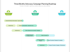 Three Months Advocacy Campaign Planning Roadmap Professional
