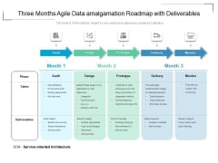 Three Months Agile Data Amalgamation Roadmap With Deliverables Guidelines