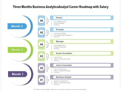 Three Months Business Analytics Analyst Career Roadmap With Salary Pictures