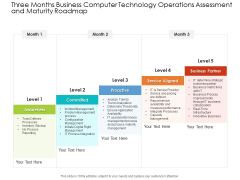 Three Months Business Computer Technology Operations Assessment And Maturity Roadmap Template