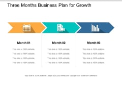 Three Months Business Plan For Growth Ppt PowerPoint Presentation Styles Graphics Example