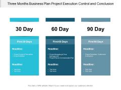 Three Months Business Plan Project Execution Control And Conclusion Ppt PowerPoint Presentation Pictures Designs