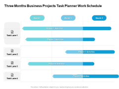 Three Months Business Projects Task Planner Work Schedule Microsoft