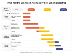 Three Months Business Systematic Project Scoping Roadmap Introduction