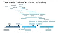 Three Months Business Team Schedule Roadmap Inspiration