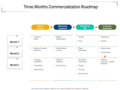 Three Months Commercialization Roadmap Structure