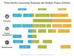 Three Months Commodity Roadmap With Multiple Project Activities Sample