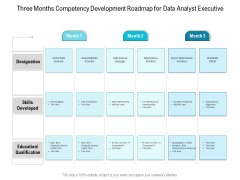 Three Months Competency Development Roadmap For Data Analyst Executive Elements