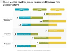 Three Months Cryptocurrency Curriculum Roadmap With Bitcoin Platform Template