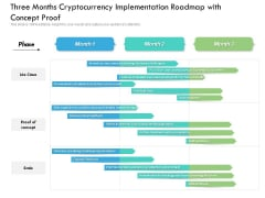 Three Months Cryptocurrency Implementation Roadmap With Concept Proof Ideas