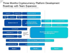 Three Months Cryptocurrency Platform Development Roadmap With Team Expansion Professional