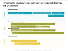 Three Months Cryptocurrency Technology Development Roadmap With Deployment Designs