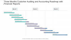 Three Months Customer Auditing And Accounting Roadmap With Financial Reports Introduction