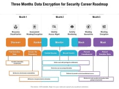 Three Months Data Encryption For Security Career Roadmap Summary