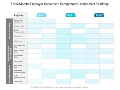 Three Months Employee Career With Competency Development Roadmap Ideas