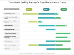 Three Months Flexibility Roadmap For Project Preparation And Finance Information