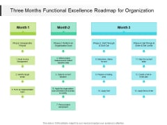Three Months Functional Excellence Roadmap For Organization Themes