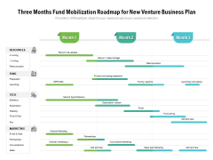 Three Months Fund Mobilization Roadmap For New Venture Business Plan Structure