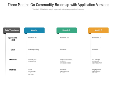 Three Months Go Commodity Roadmap With Application Versions Guidelines