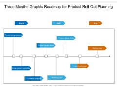 Three Months Graphic Roadmap For Product Roll Out Planning Structure