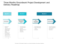 Three Months Groundwork Project Development And Delivery Roadmap Formats