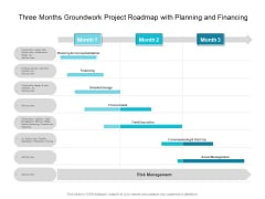 Three Months Groundwork Project Roadmap With Planning And Financing Microsoft