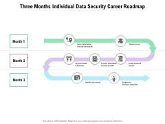 Three Months Individual Data Security Career Roadmap Inspiration