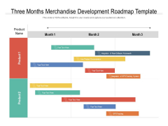 Three Months Merchandise Development Roadmap Template Infographics