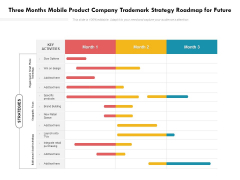 Three Months Mobile Product Company Trademark Strategy Roadmap For Future Graphics