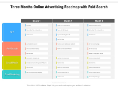 Three Months Online Advertising Roadmap With Paid Search Download