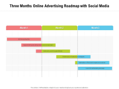 Three Months Online Advertising Roadmap With Social Media Icons
