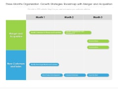 Three Months Organization Growth Strategies Roadmap With Merger And Acquisition Microsoft