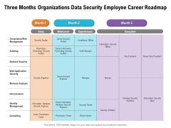 Three Months Organizations Data Security Employee Career Roadmap Background