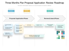Three Months Plan Proposal Application Review Roadmap Demonstration